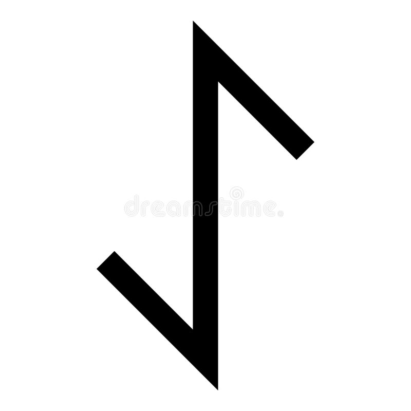Imagen plana del estilo del ejemplo del vector del color del negro del icono del símbolo de la tutela de la fuerza del tejo de la libre illustration