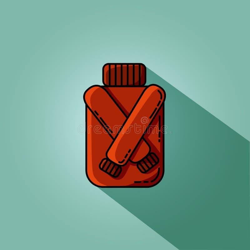 Imagen plana del inconformista del suéter rojo del otoño Icono simple del vector para la web libre illustration