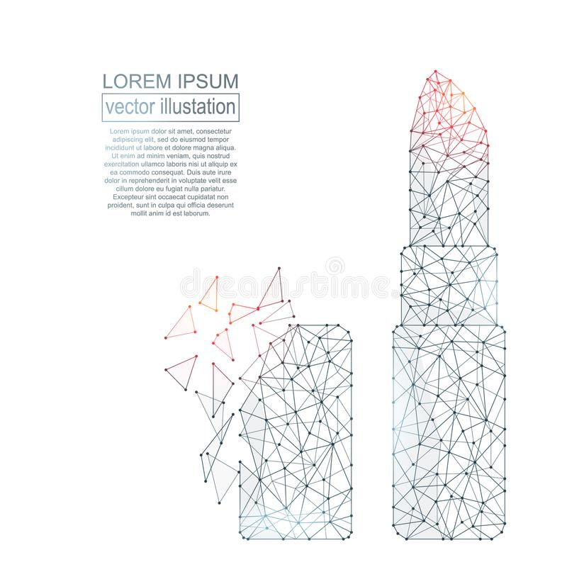 Imagen poligonal del extracto del lápiz labial stock de ilustración