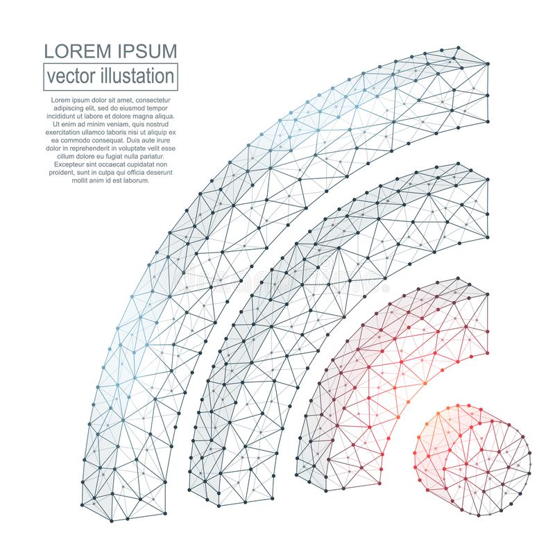 Imagen poligonal del icono de Wi-Fi stock de ilustración