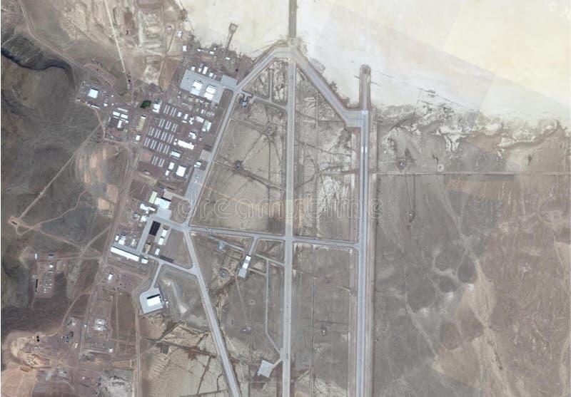 Imagen por satélite del área 51 imagen de archivo libre de regalías