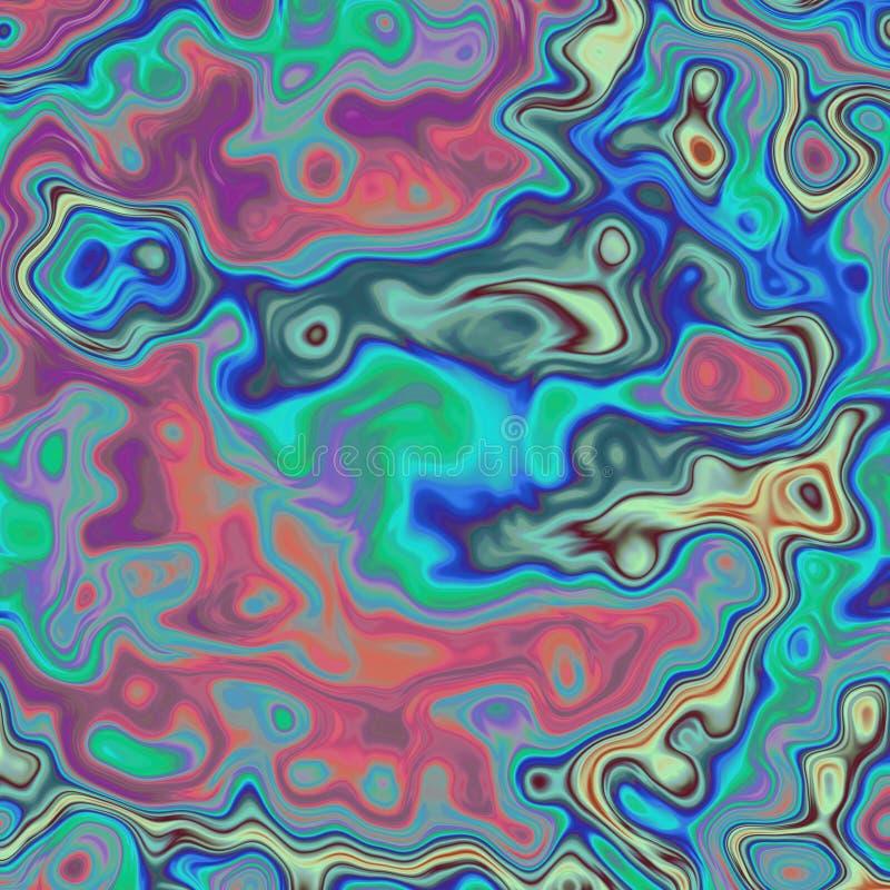 Imagen psicodélica gráfica surrealista surrealista abstracta ilustración del vector