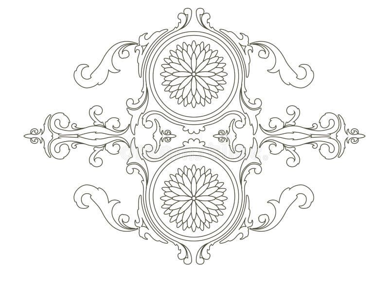 Imagen ?rabe aislada del mehndi de las flores mandala ilustración del vector
