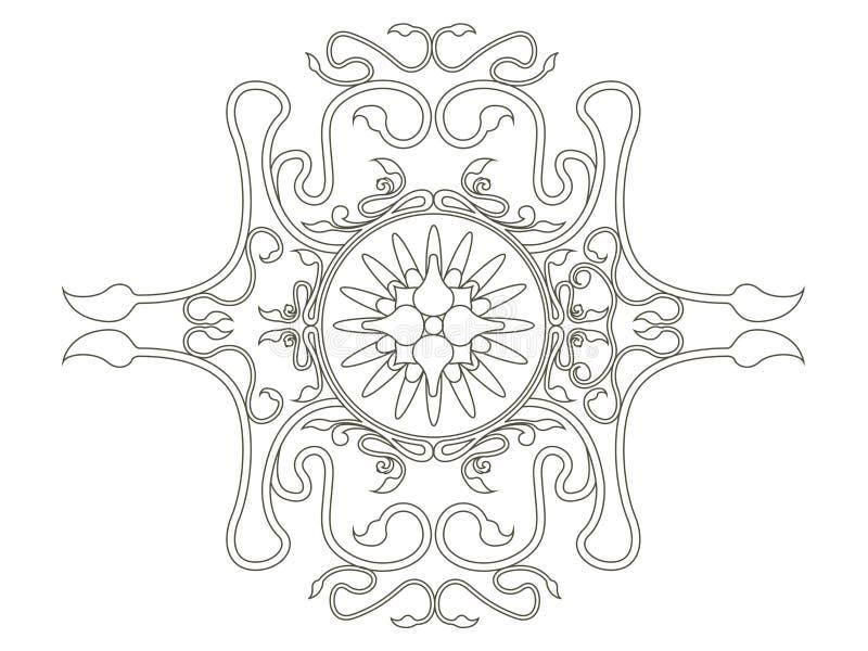 Imagen ?rabe aislada del mehndi de las flores mandala libre illustration