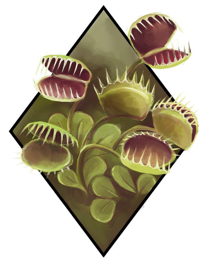 Imagen realista de una planta carniviorous fotografía de archivo