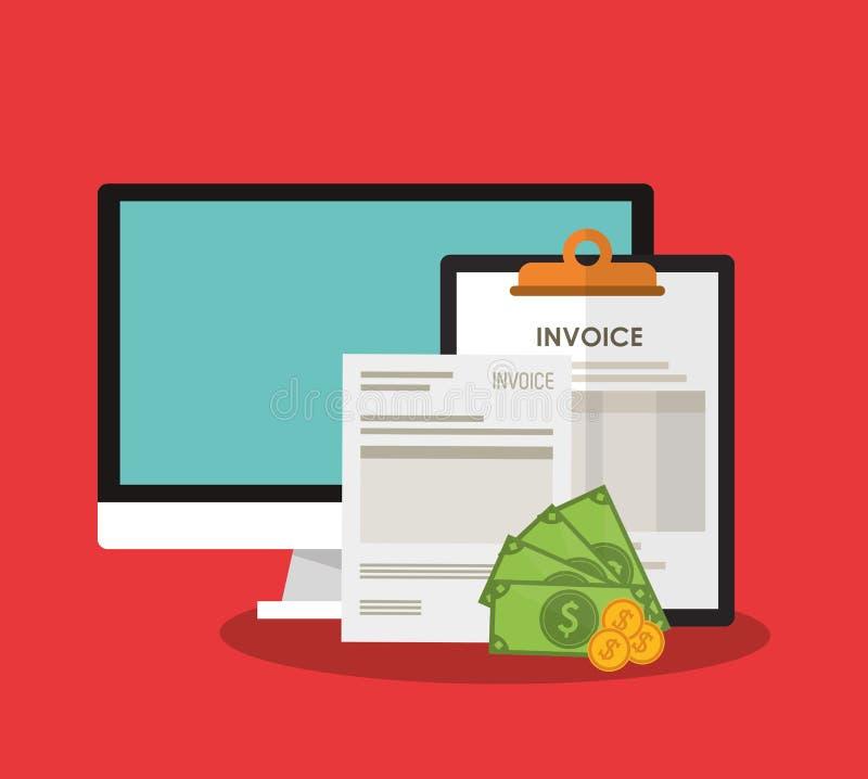 imagen relacionada de los iconos de la economía de la factura stock de ilustración