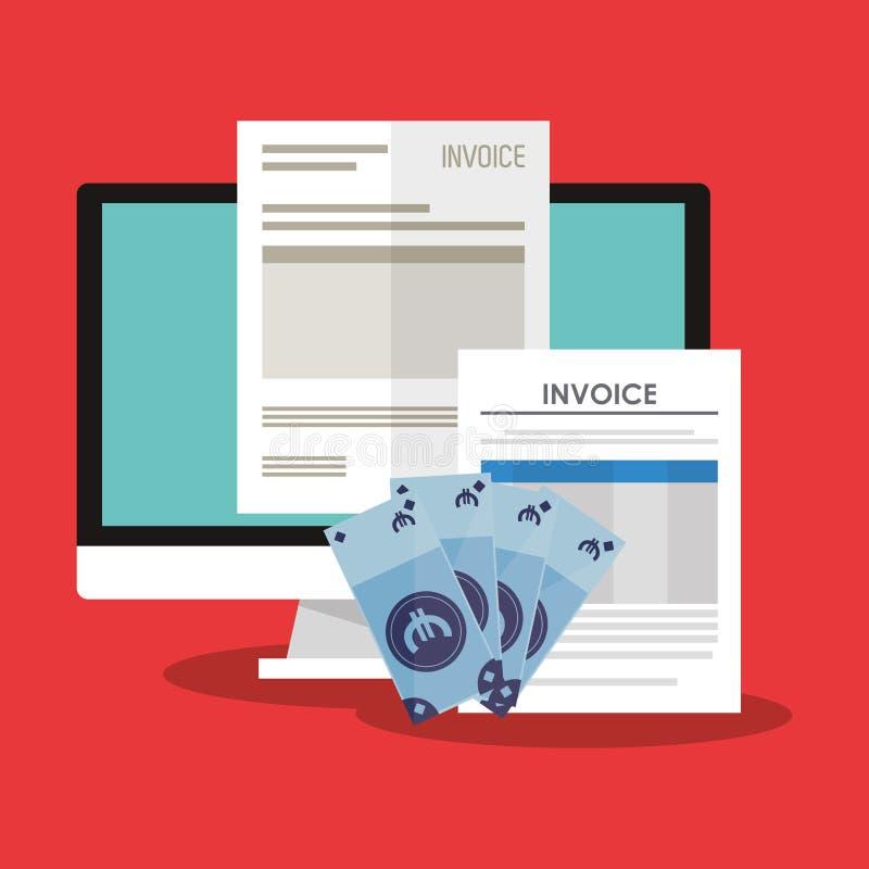 imagen relacionada de los iconos de la economía de la factura ilustración del vector