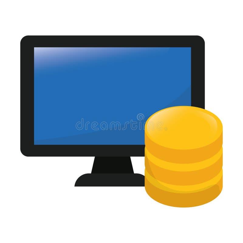 imagen relacionada de los iconos del web hosting o del centro de datos stock de ilustración