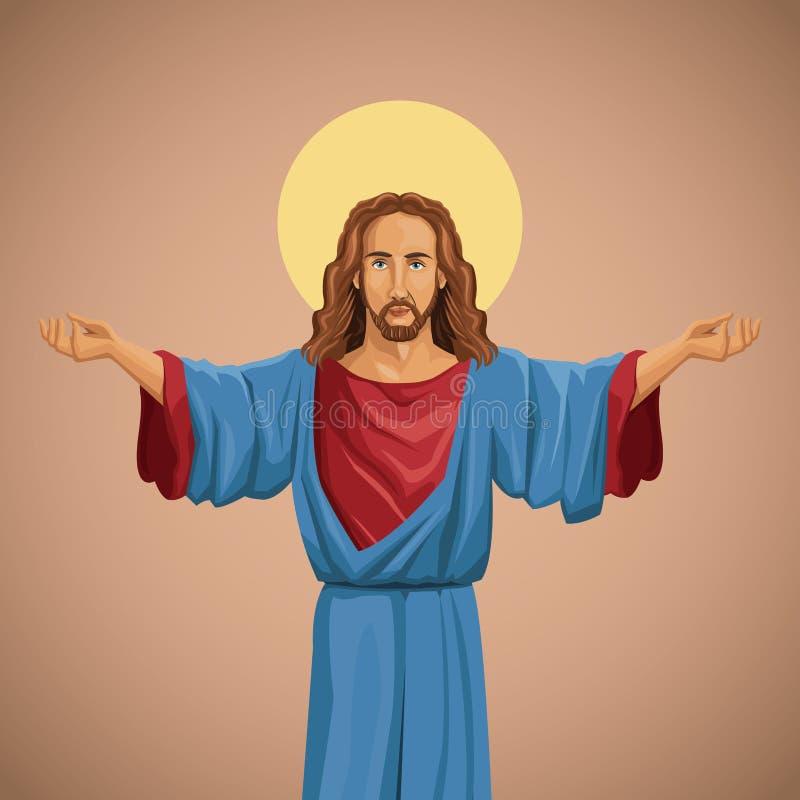 imagen religiosa del Jesucristo bendecida libre illustration