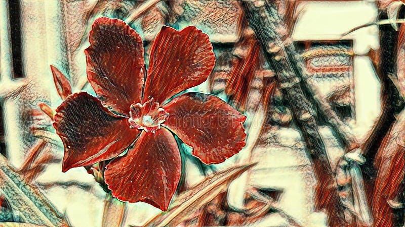 Imagen roja del estilo del extracto de la flor foto de archivo