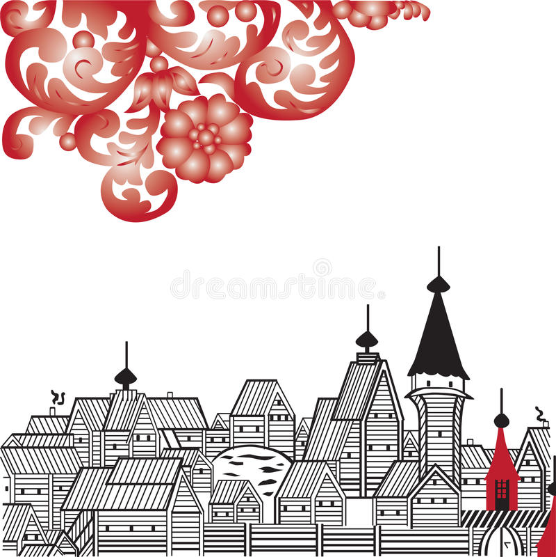 Imagen rusa del folklore ilustración del vector
