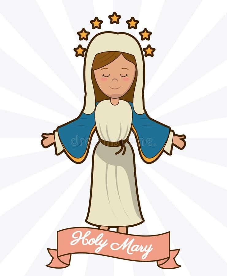 Imagen santa de la religión de la creencia de la ascensión de Maria libre illustration