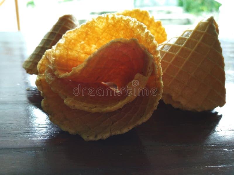 Imagen secada de la empanada y de la galleta del codo fotografía de archivo