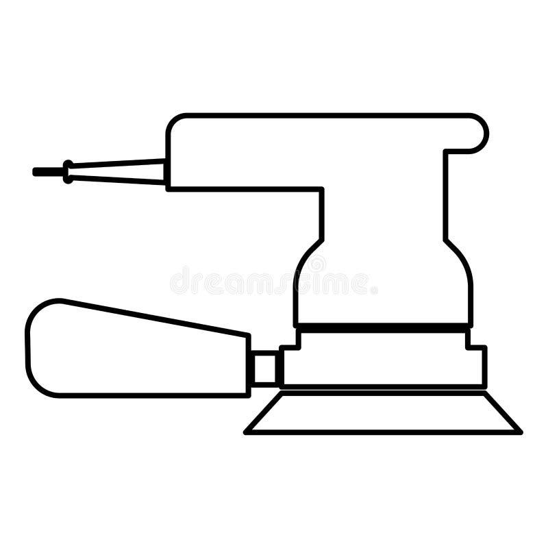 Imagen simple de la amoladora del icono del negro de color del estilo plano excéntrico del ejemplo libre illustration