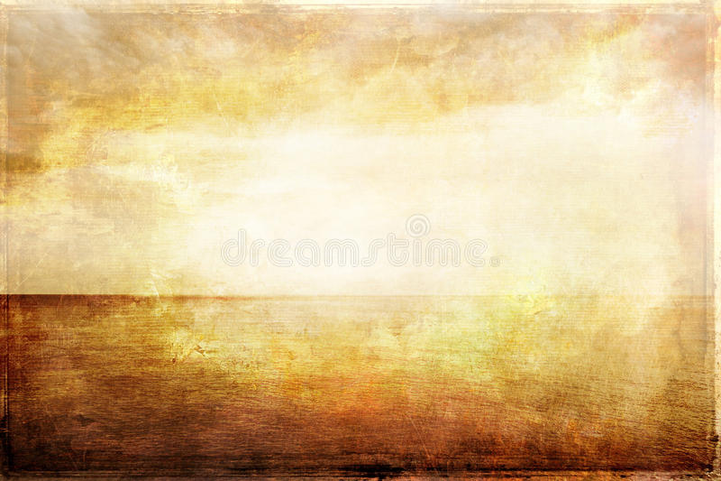 Imagen sucia del vintage de la luz, del mar y del cielo libre illustration