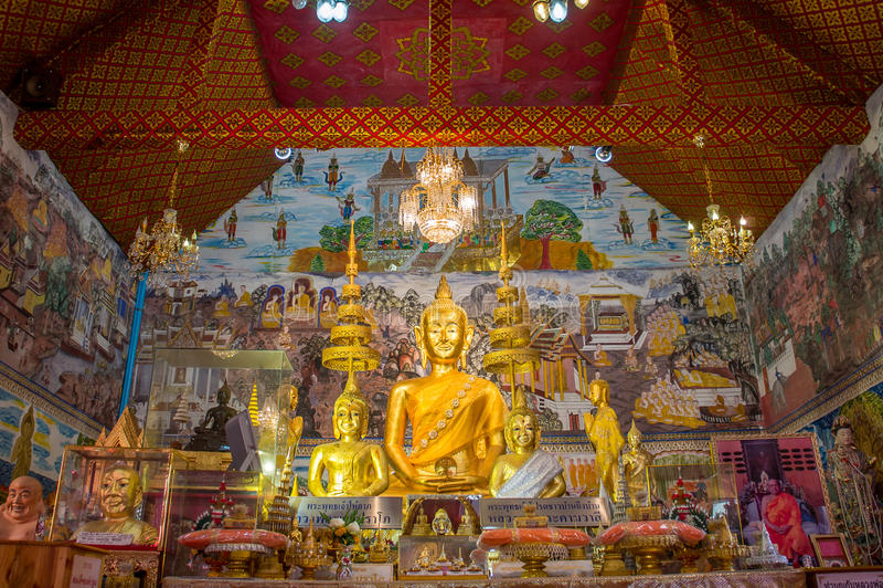 Imagen Tailandia Uthai Thani Wat Tha Sung de Buda imagen de archivo