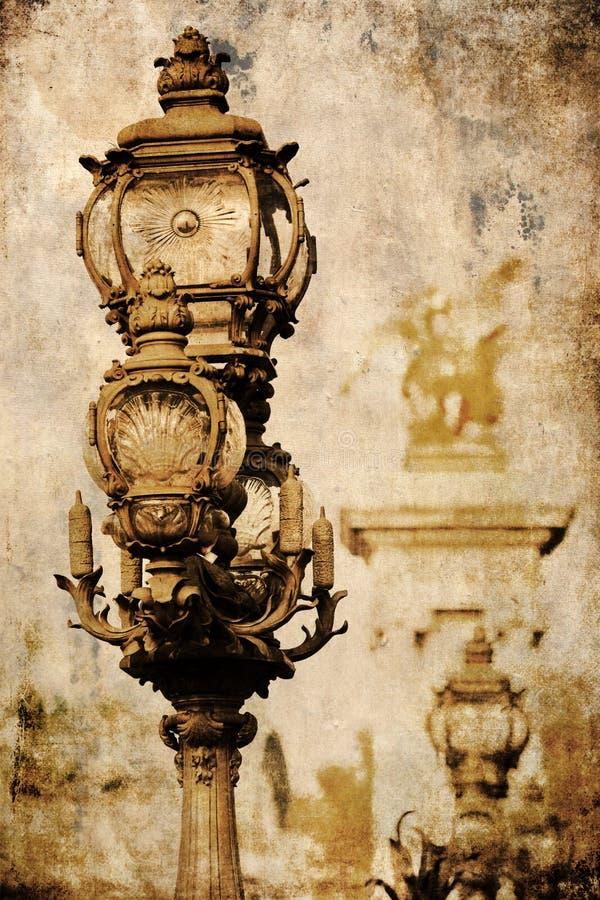 Imagen texturizada Grunge de una lámpara de calle imágenes de archivo libres de regalías
