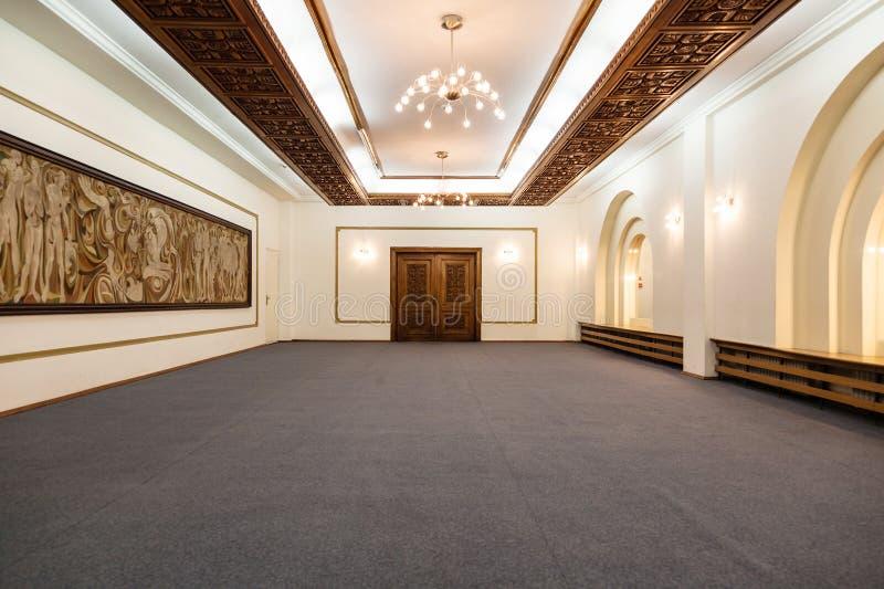 Imagen vacía del frente del pasillo de la boda fotos de archivo