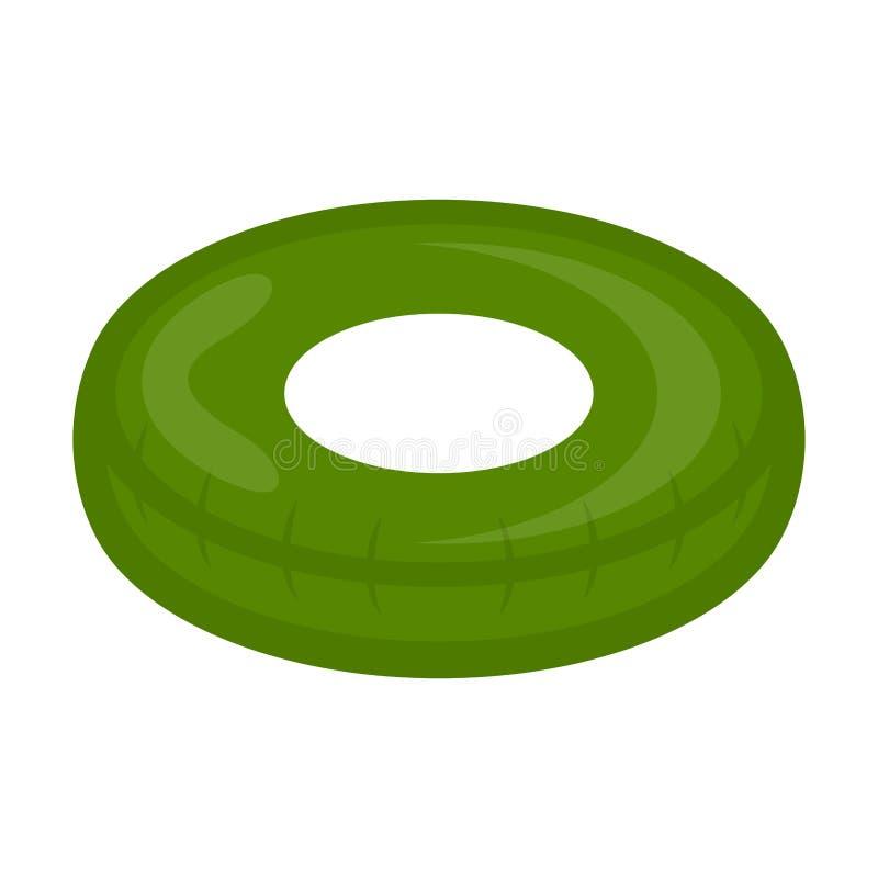 Imagen verde aislada del juguete del flotador de la piscina libre illustration