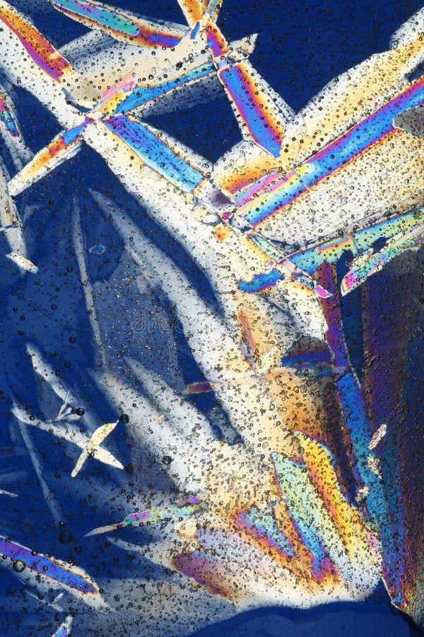 Imagens abstratas do cristal de gelo fotografia de stock royalty free
