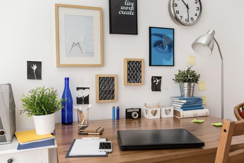 Imagens acima da mesa fotografia de stock