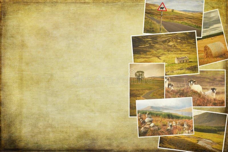 Imagens da colagem de Escócia foto de stock
