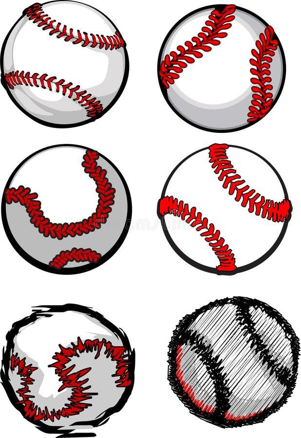 Imagens da esfera do basebol ilustração royalty free