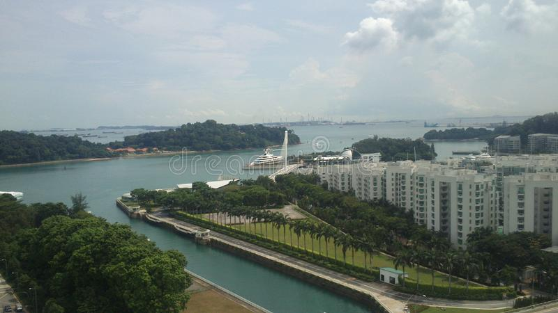 Imagens da skyline de Singapura no dia imagem de stock