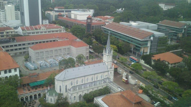 Imagens da skyline de Singapura no dia imagens de stock