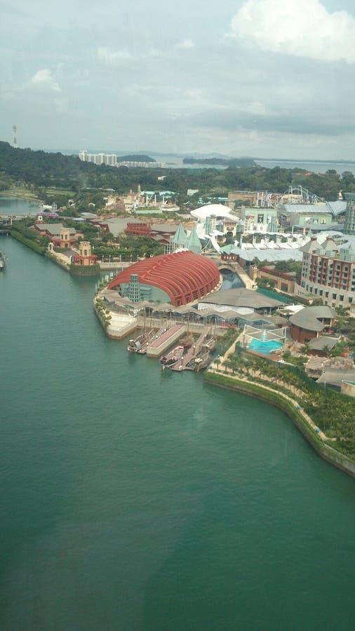 Imagens da skyline de Singapura no dia fotos de stock royalty free