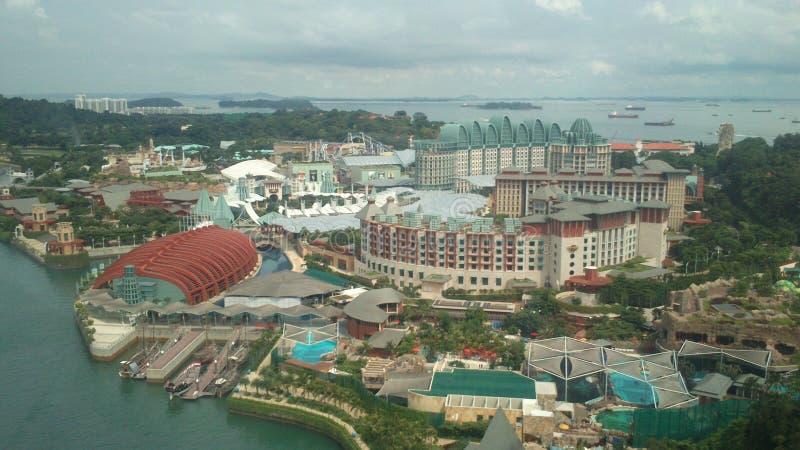 Imagens da skyline de Singapura no dia fotografia de stock royalty free