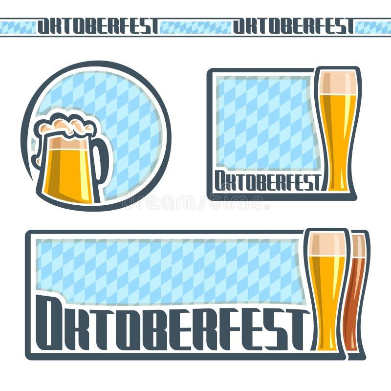 Imagens de fundo para o texto no tema de Oktoberfest ilustração royalty free