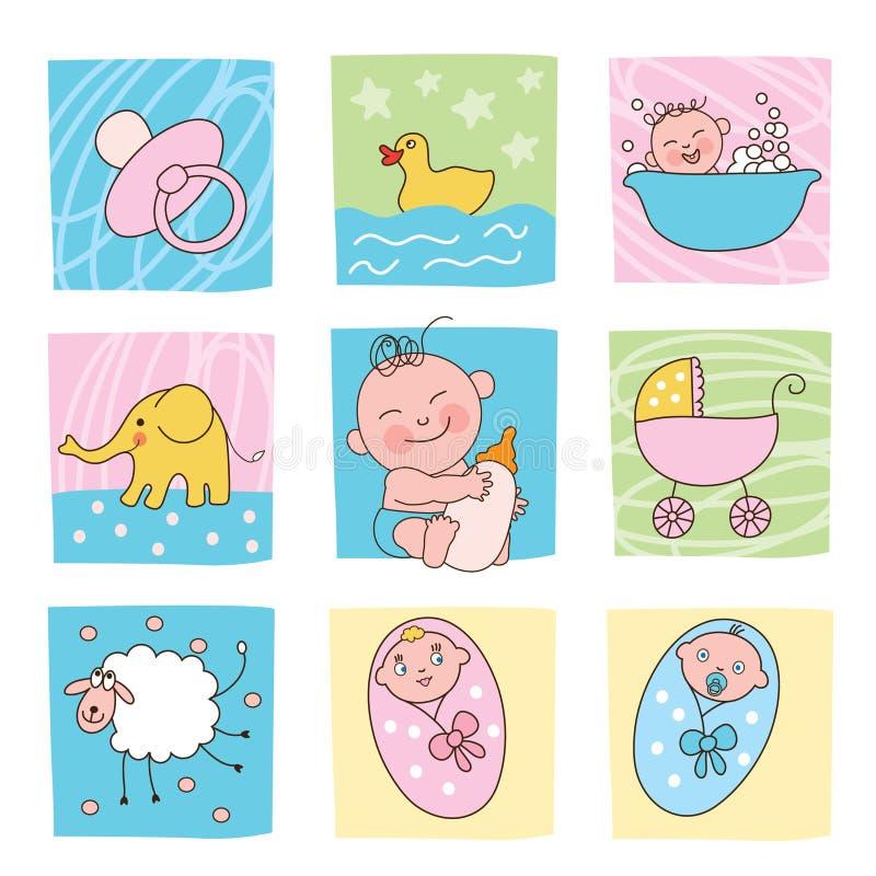 Imagens do bebê ilustração stock