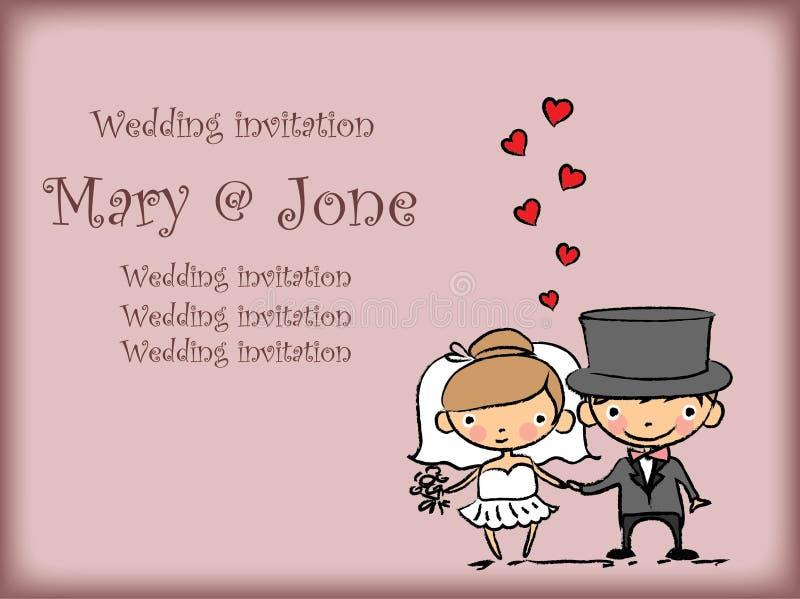 Imagens do casamento dos desenhos animados ilustração do vetor