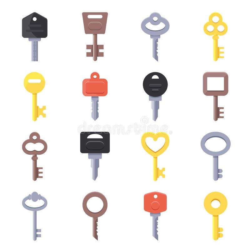Imagens do vetor das chaves para portas ilustração do vetor