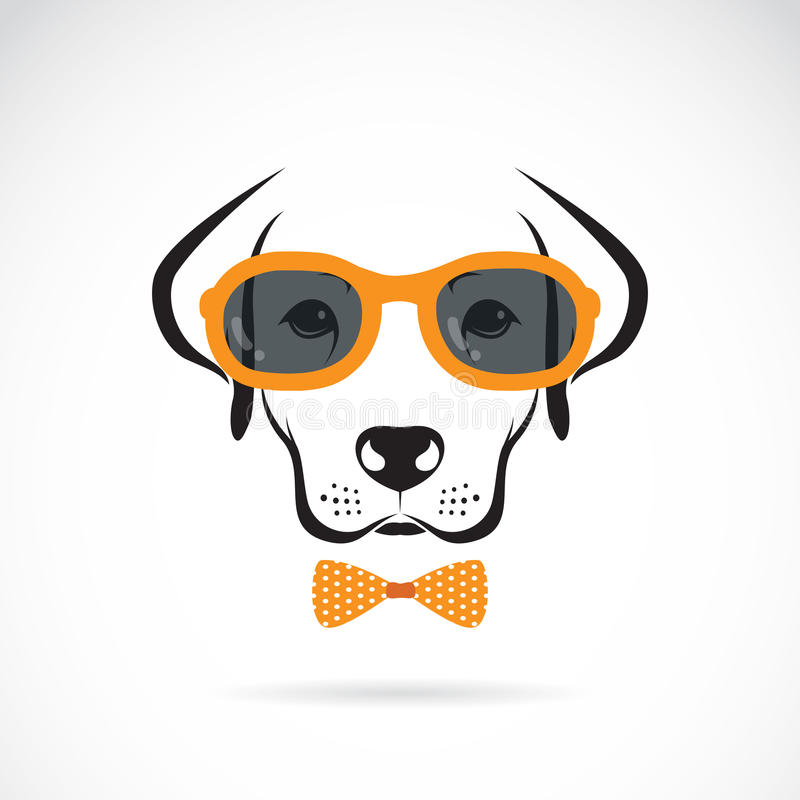 Imagens do vetor de óculos de sol vestindo de Labrador do cão ilustração stock