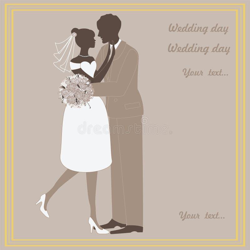 Imagens do vetor do casamento, noivos ilustração royalty free