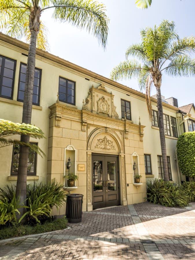 Imagens dos estúdios de Paramount, construção de Redstone do verão, excursão no 14 de agosto de 2017 - Los Angeles de Hollywood,  imagens de stock