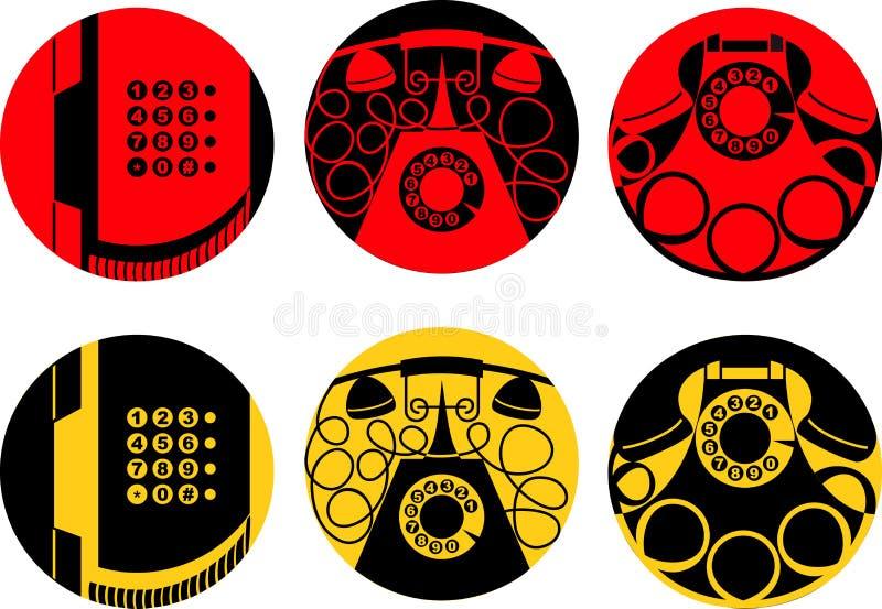 Imagens estilizados do grupo de telefone ilustração stock