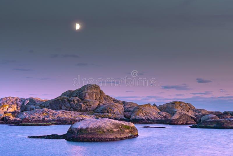Imagens mostram Verdens Ende na ilha de Tjome na Noruega, escandinávia imagem de stock royalty free