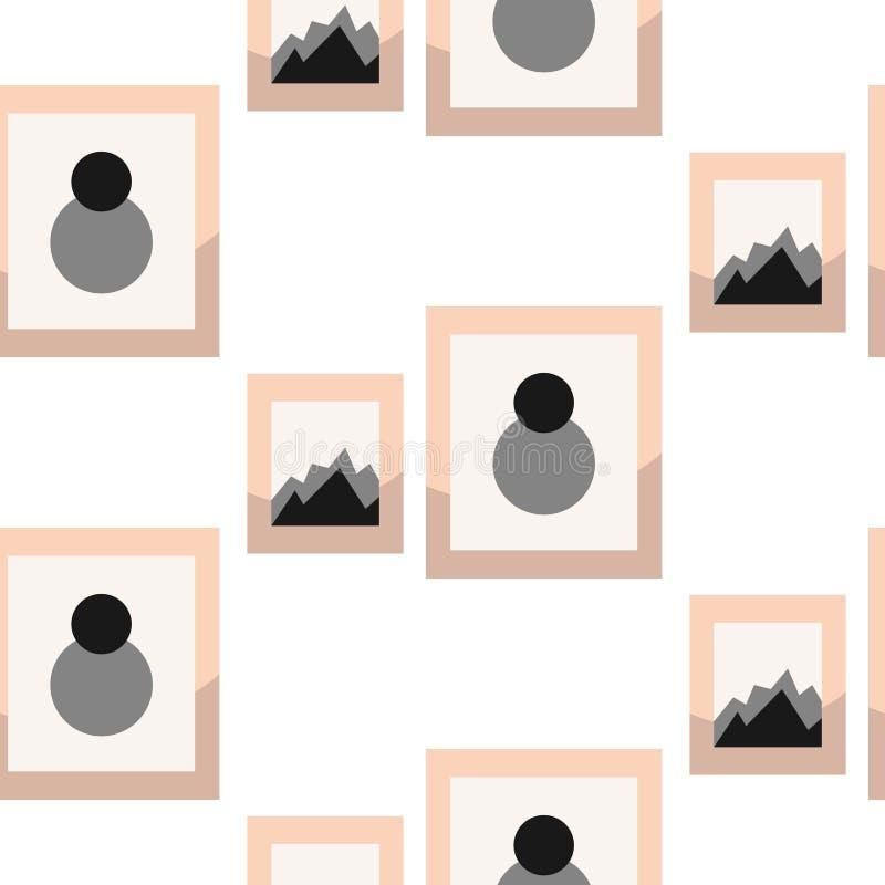 Imagens no teste padrão sem emenda do vetor da parede do frameson ilustração do vetor