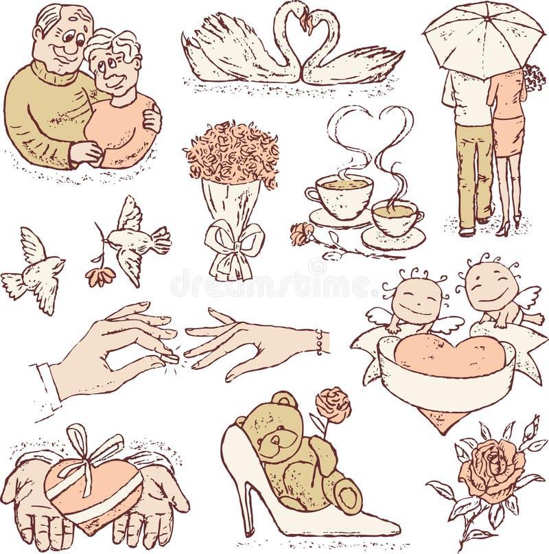 Imagens sobre o amor ilustração royalty free