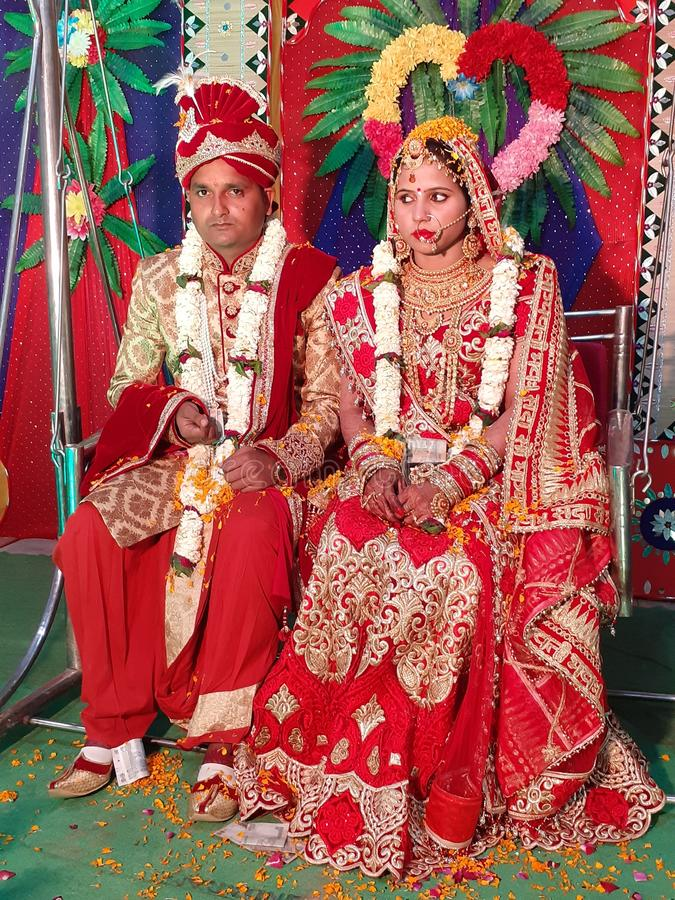 Imagens tradicionais indianas do casamento fotos de stock royalty free