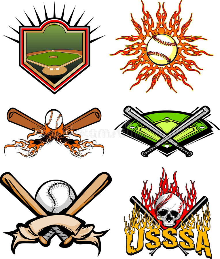 Images 2 de base-ball illustration de vecteur