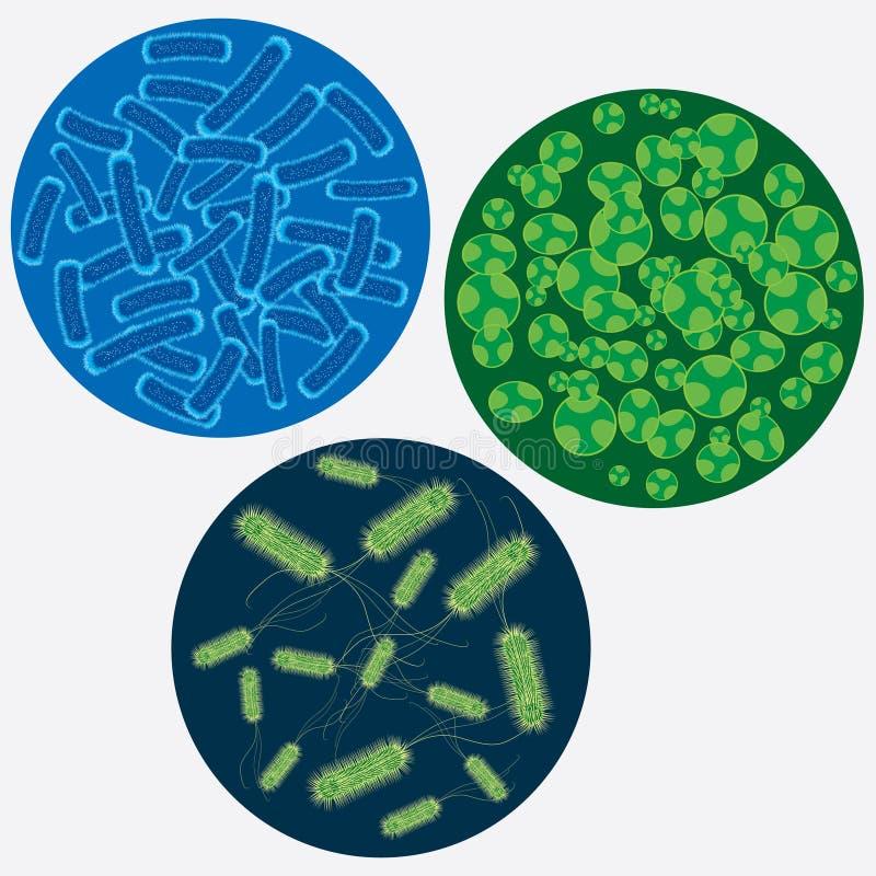 Images abstraites des virus. illustration de vecteur