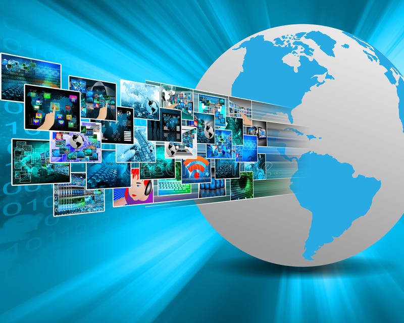 Images In Cyberspace Royalty Free Stock Image