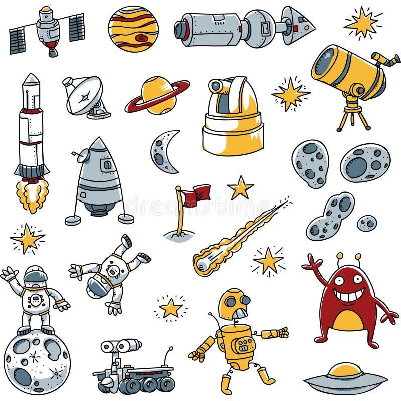 Images de l'espace illustration libre de droits