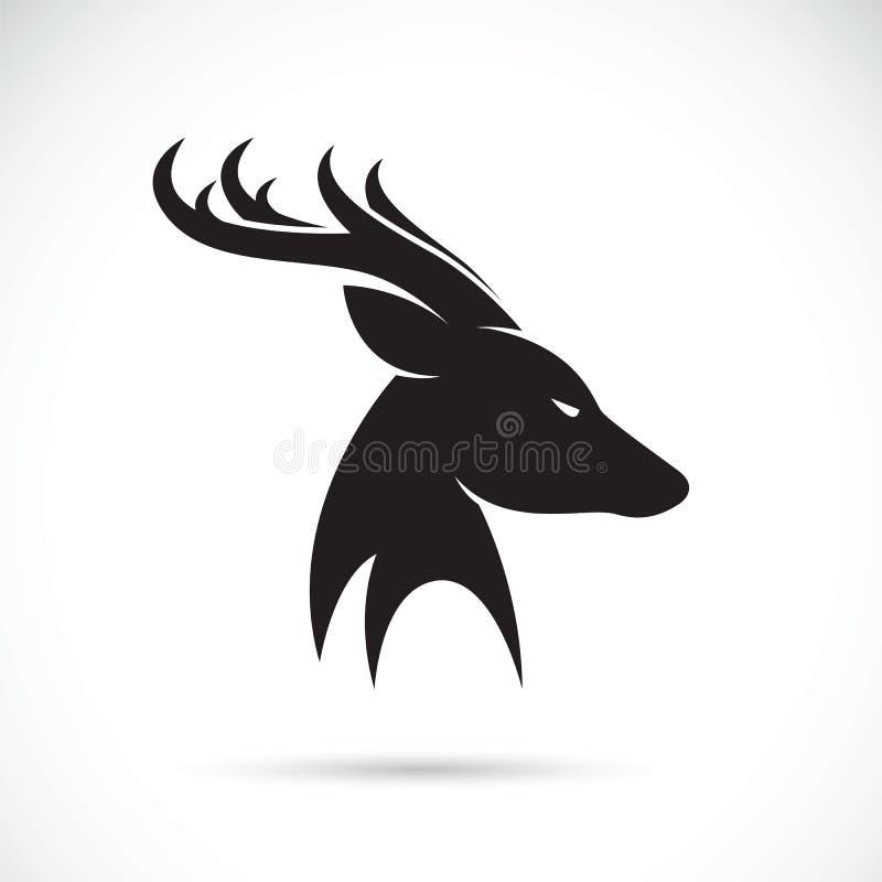 Images de vecteur de tête de cerfs communs illustration stock