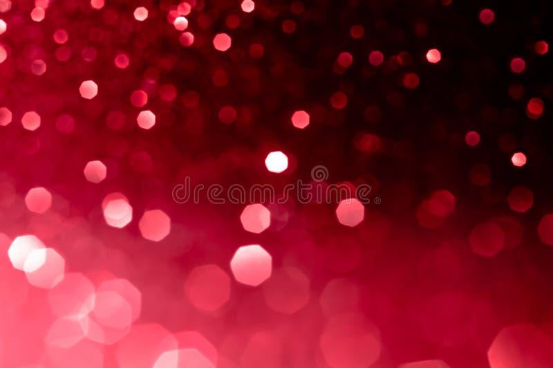 Images douces abstraites bokeh rouge foncé avec fond clair Rouge, marron, noir, élégance lumineuse de nuit, cadre lisse, dessin a photographie stock