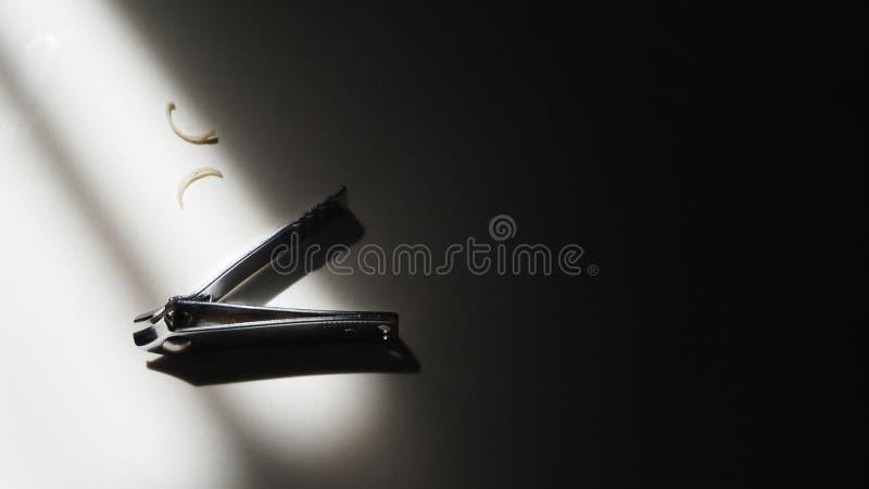 Images en gros plan de coupe-ongles d'angle de vue supérieure photos stock